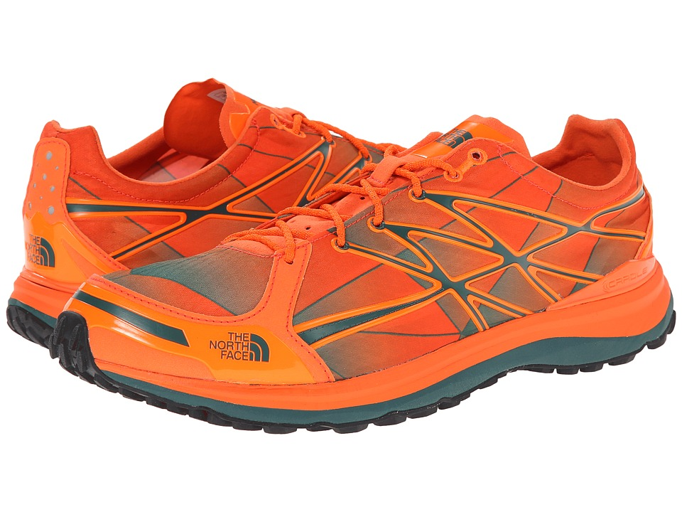 The North Face - Ultra Trail II (Power Orange/Jasper Green) Men's Shoes