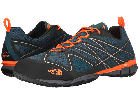 The North Face - Ultra Current (Power Orange/Black Ink Green) Men's Shoes
