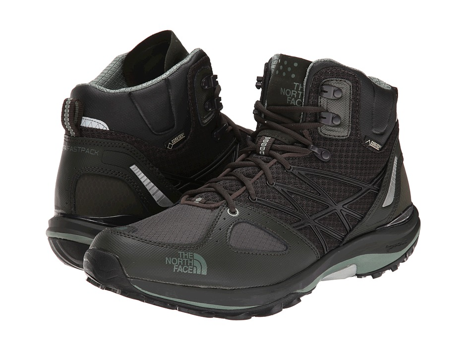 The North Face - Ultra Fastpack Mid GTX (Black Ink Green/Laurel Wreath Green) Men's Hiking Boots