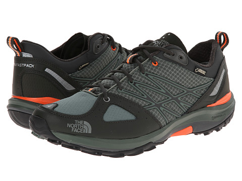 The North Face - Ultra Fastpack GTX (Laurel Wreath Green/Power Orange) Men's Shoes
