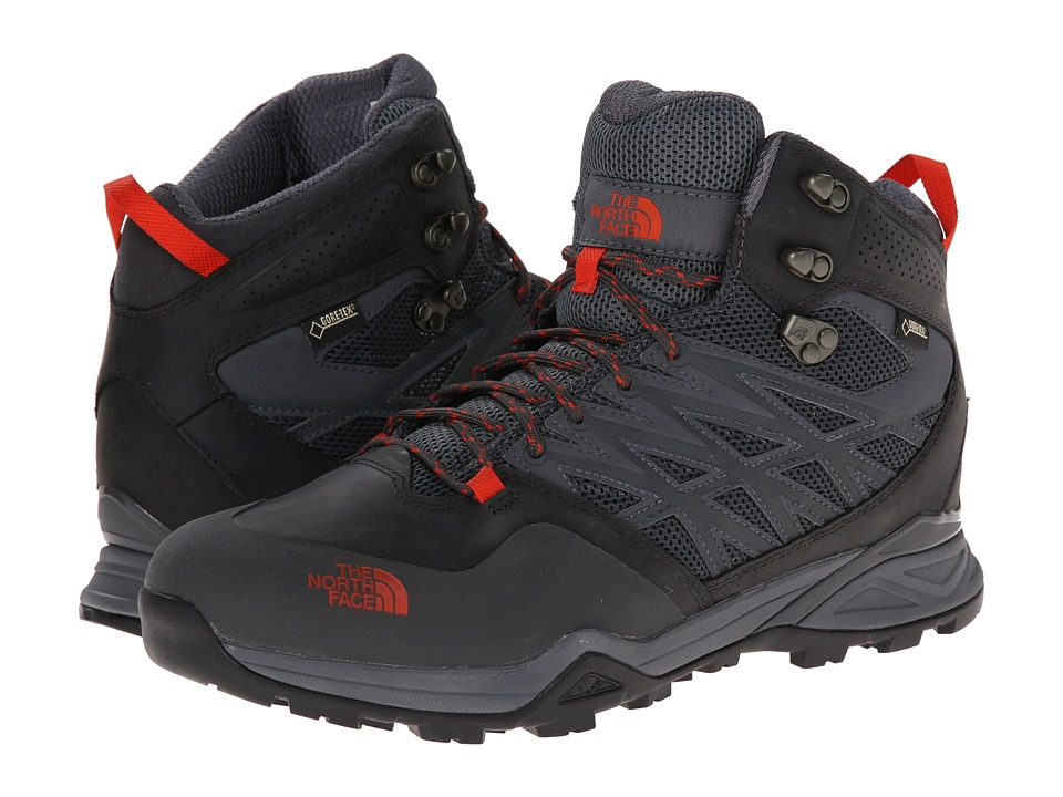 The North Face - Hedgehog Hike Mid GTX (Dark Shadow Grey/Zion Orange) Men's Hiking Boots