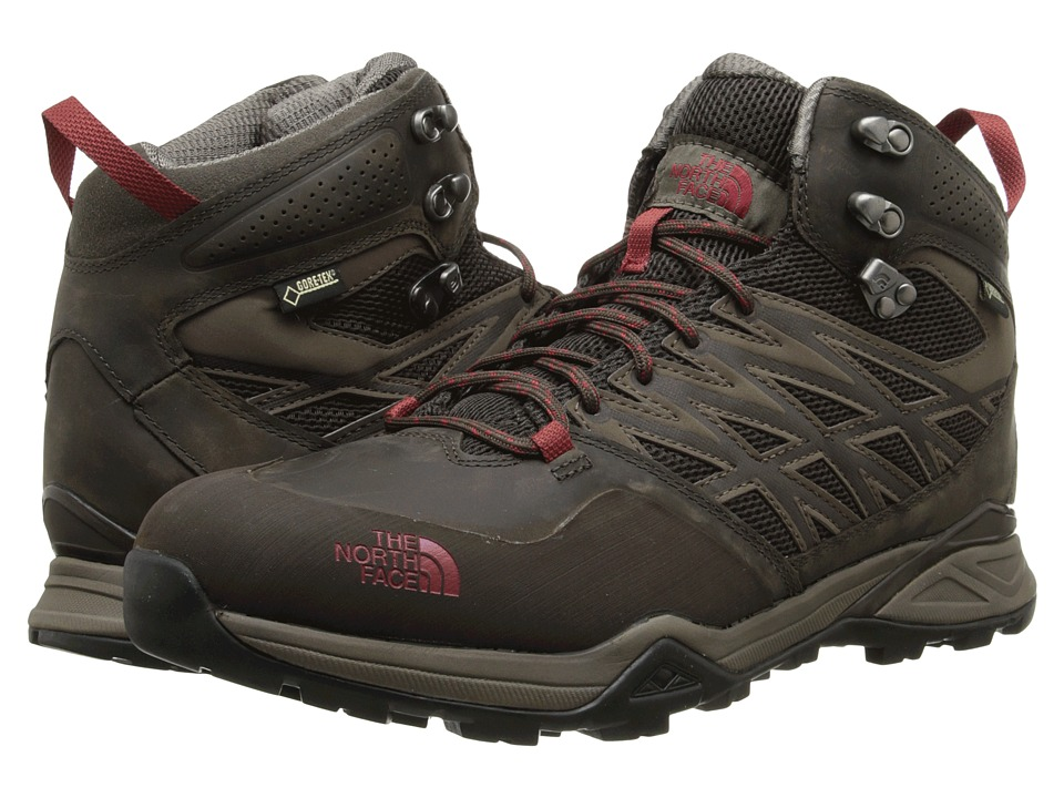 The North Face - Hedgehog Hike Mid GTX (Weimaraner Brown/Rosewood Red) Men's Hiking Boots