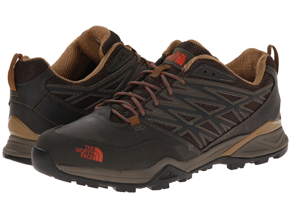 The North Face - Hedgehog Hike (Weimaraner Brown/Zion Orange) Men's Shoes