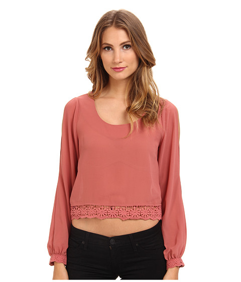 DOUBLE ZERO - L/S Taylor Top (Dusty Pink) Women's Clothing