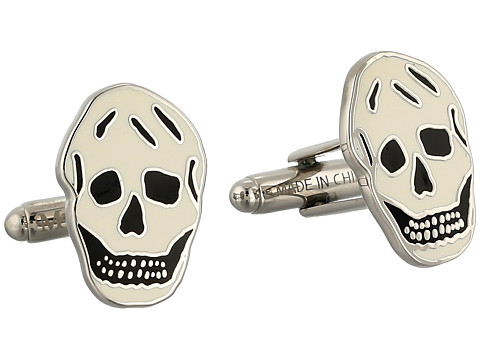 Alexander McQueen - Skull Cufflinks (Black/White) Cuff Links