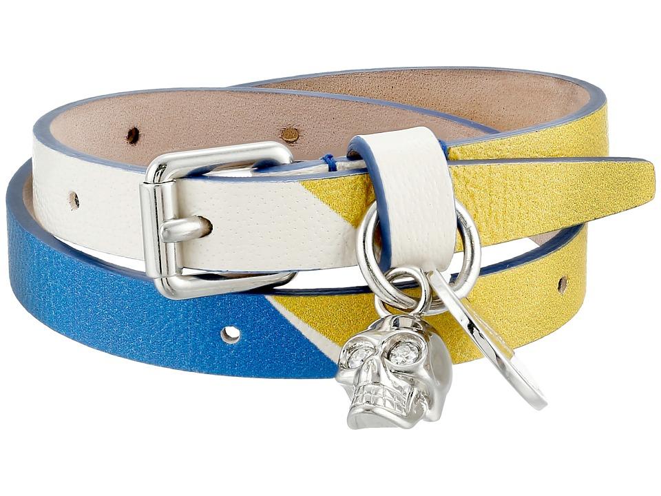 Alexander McQueen - Double Wrap Bracelet (Yellow/Ocean) Bracelet