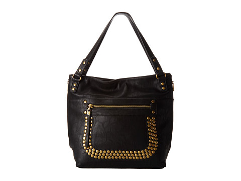 Big Buddha - Barry (Black) Satchel Handbags