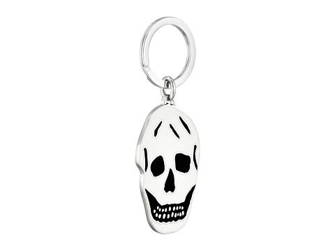 Alexander McQueen - Enamel Skull Keyring (Black/Gunmetal) Wallet
