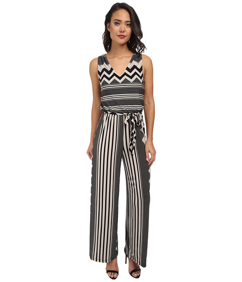 rsvp - Christy Chevron Jumpsuit (Black/White) Women's Jumpsuit & Rompers One Piece