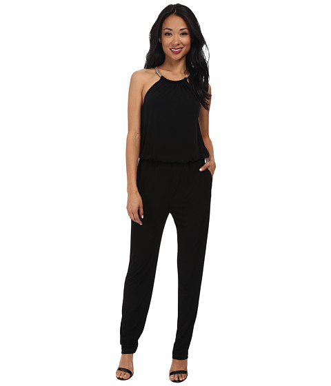 rsvp - Lydia Necklace Jumpsuit (Black) Women's Jumpsuit & Rompers One Piece
