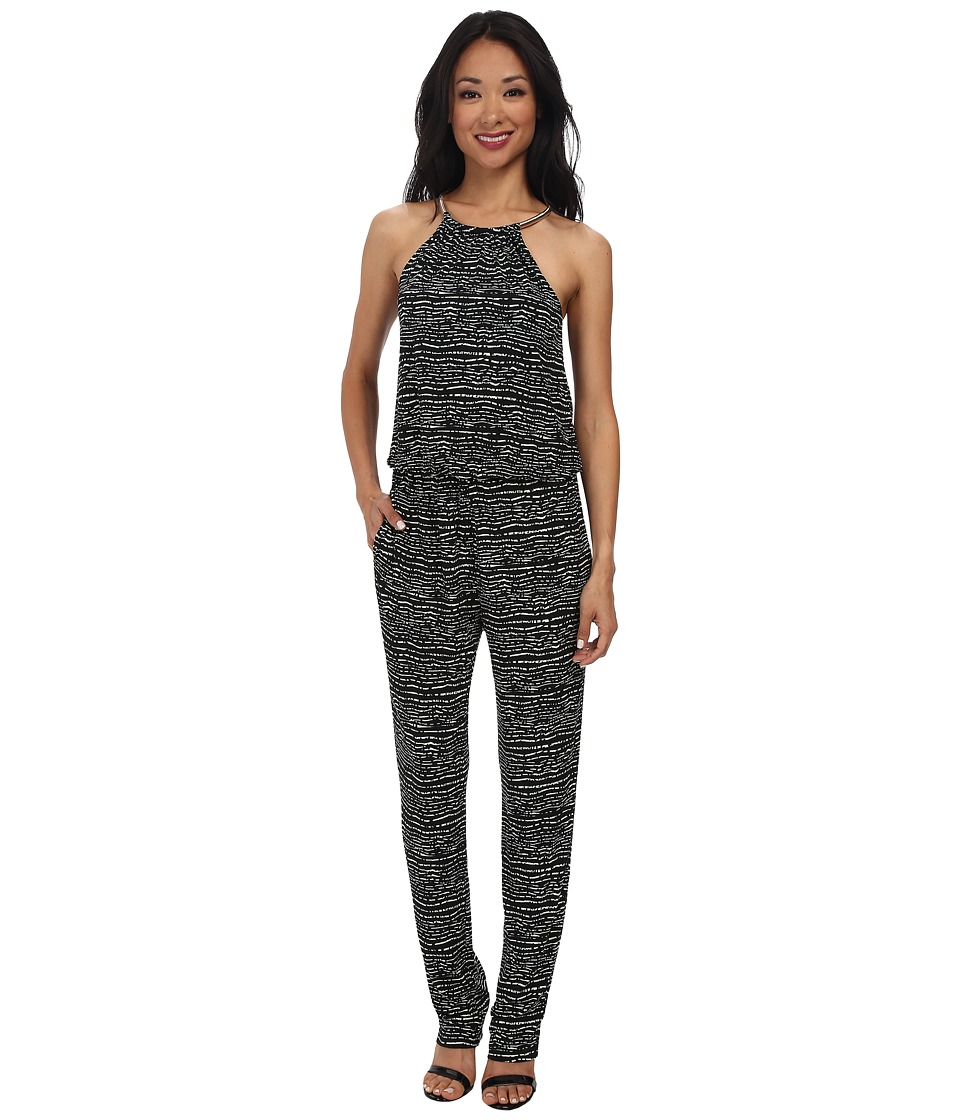 rsvp - Lydia Necklace Jumpsuit (Black Multi) Women's Jumpsuit & Rompers One Piece