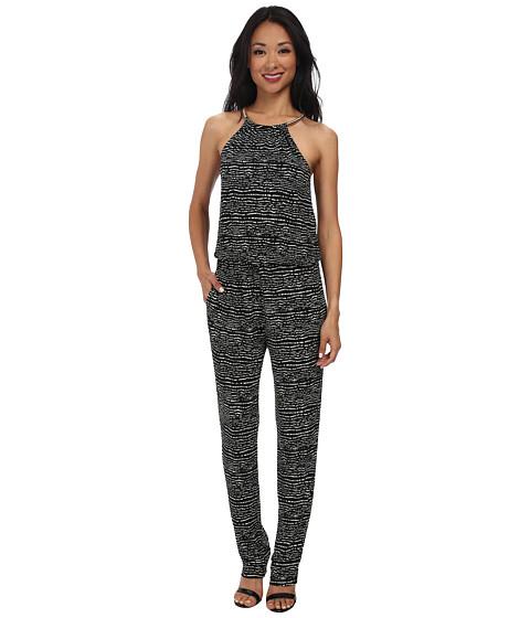 rsvp - Lydia Necklace Jumpsuit (Black Multi) Women's Jumpsuit & Rompers One Piece