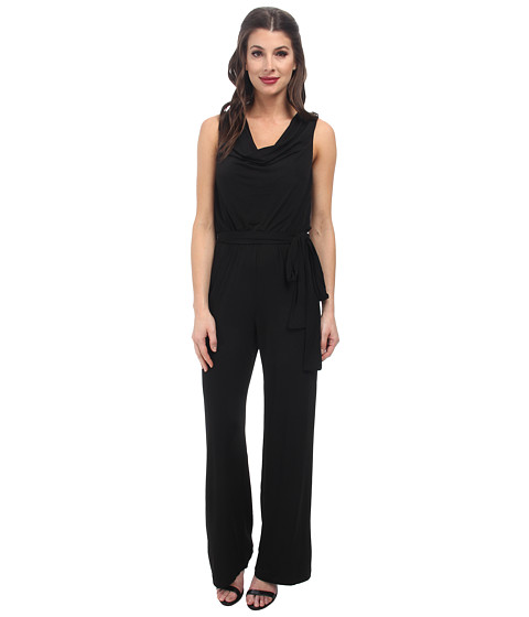 rsvp - Erin Cowl Neck Jumpsuit (Black Multi) Women's Jumpsuit & Rompers One Piece