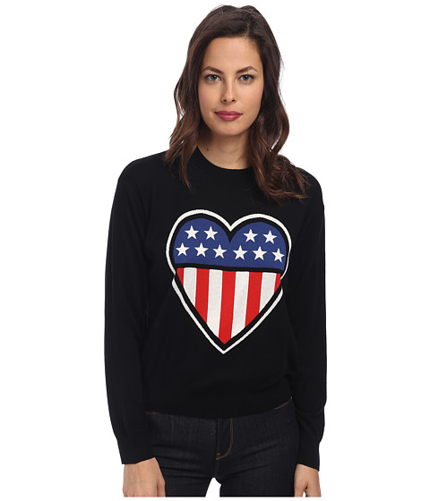 LOVE Moschino - Americana Long Sleeve Sweater (Black) Women