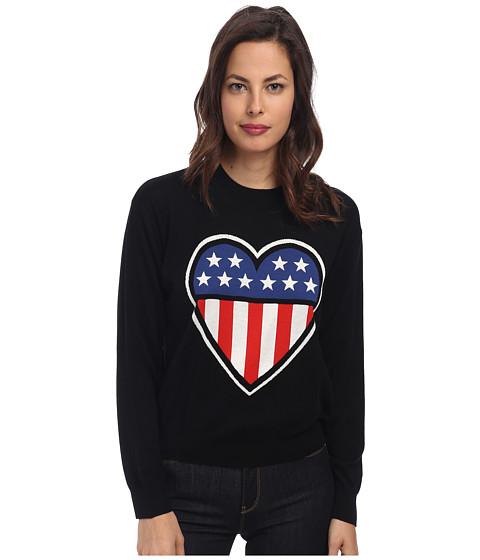 LOVE Moschino - Americana Long Sleeve Sweater (Black) Women