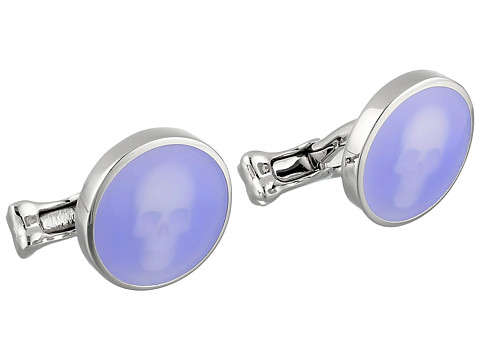 Alexander McQueen - Skull Under Glass Cufflink (Light Blue) Cuff Links