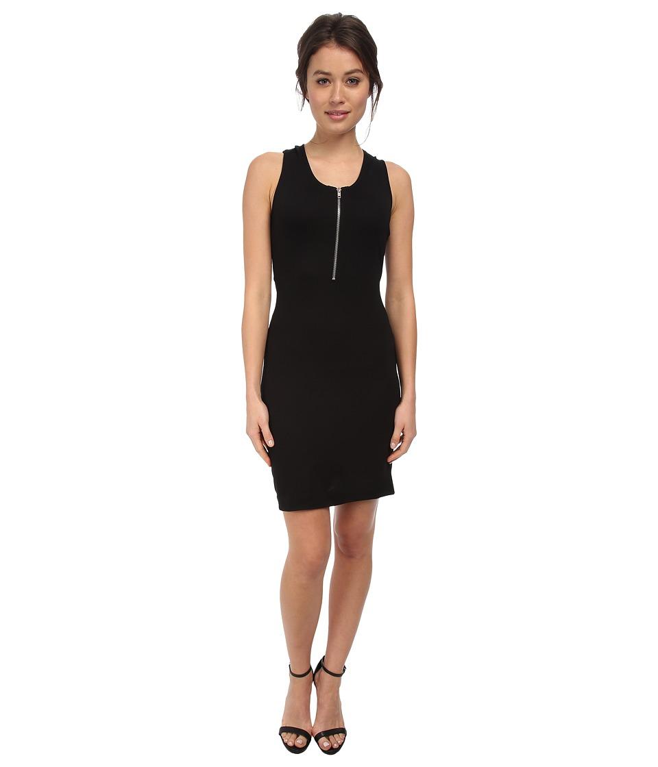 LOVE Moschino Cross Back Sleeveless Dress (Black) Women