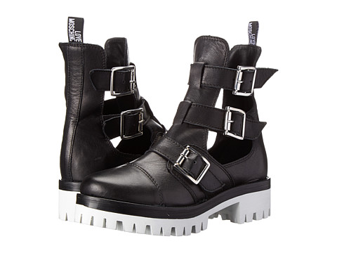 LOVE Moschino - Cut Out Boot (Black) Women