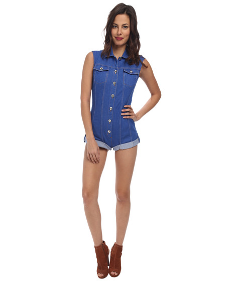 LOVE Moschino - Denim Romper (Light Denim) Women's Jumpsuit & Rompers One Piece