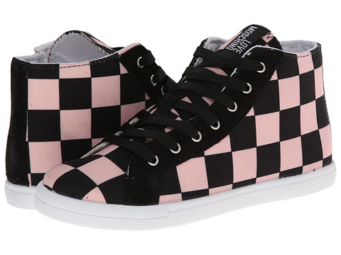 LOVE Moschino - Checker Print High Tops (Black/Pink) Women's Boots