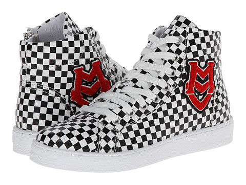 LOVE Moschino - Logo Checker High Tops (Black/White) Women