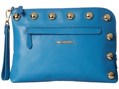LOVE Moschino - Oversized Stud Clutch (Bottaloto Azzurro) Clutch Handbags