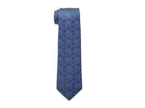 Alexander McQueen - Texture Spot 7.0 Tie (Petroleum Blue/Black) Ties