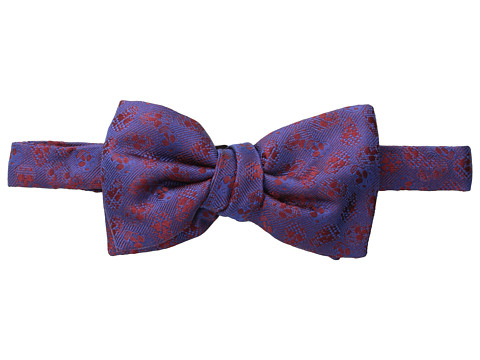 Alexander McQueen - Texture Spot Bow Tie (Red/Blue) Ties