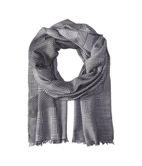 Alexander McQueen - Patchwork Jacquard Scarf (Black/White) Scarves