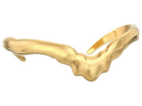 Alexander McQueen - Rib Cage Metal Bracelet (Gold) Bracelet