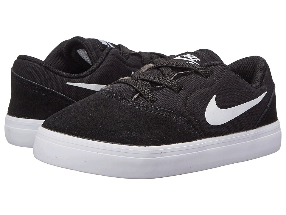 Nike SB Kids - Check (Infant/Toddler) (Black/White) Boy's Shoes