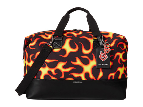 LOVE Moschino - Flame Print Weekender (Fiamma Fuoco) Weekender/Overnight Luggage