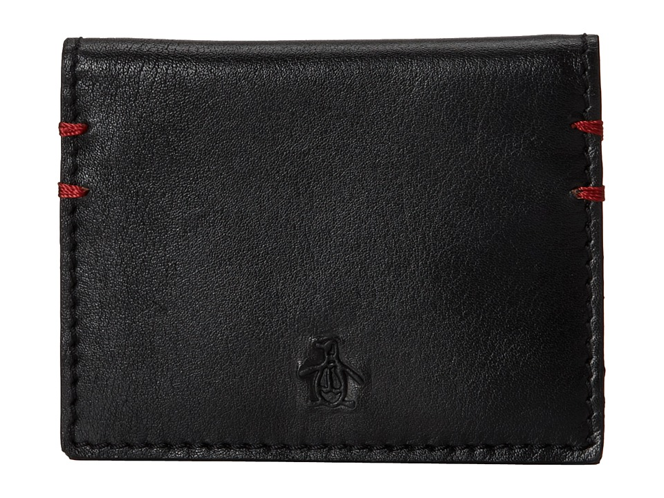 Original Penguin - Printed Business Card Wallet (Black) Wallet Handbags