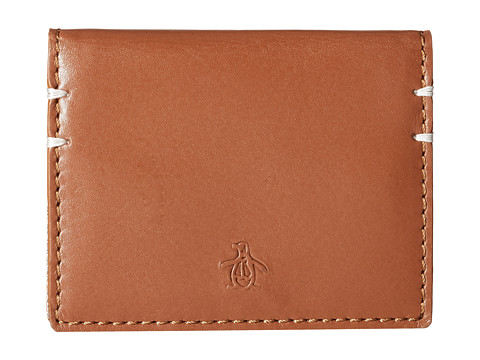 Original Penguin - Printed Business Card Wallet (English Tan) Wallet Handbags