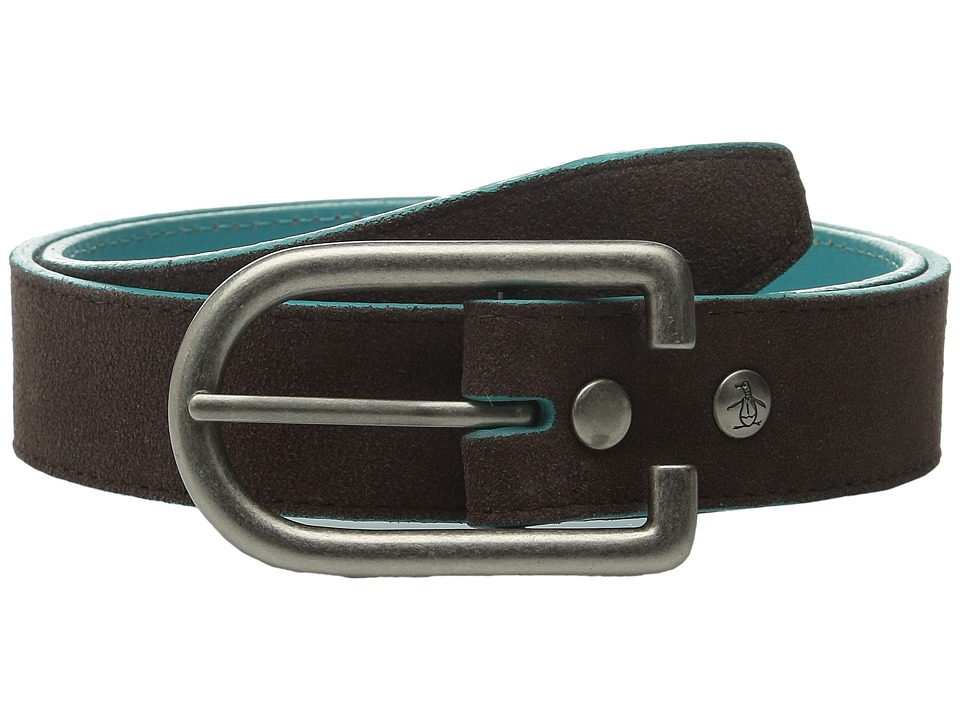 Original Penguin - Suede Leather Belt (Bracken) Men's Belts