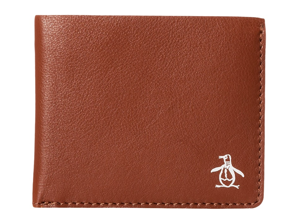 Original Penguin - Printed Single Fold Wallet (English Tan) Wallet Handbags