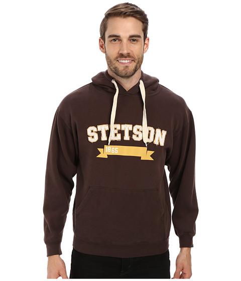 Stetson - 31066 Pullover Hoodie w/ Stetson Rec (Brown) Men