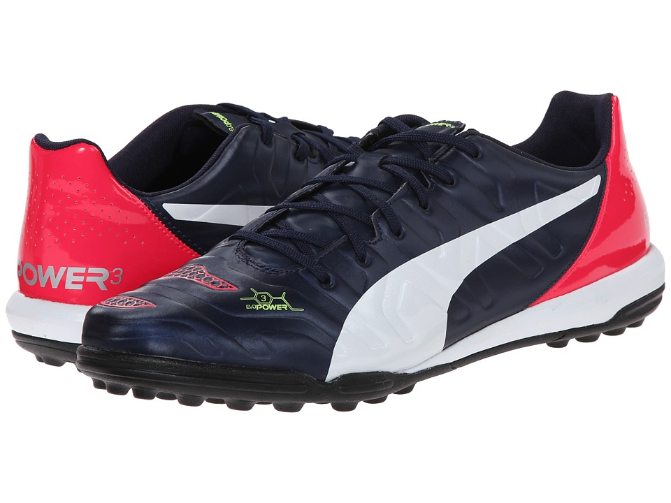 PUMA - Evopower 3.2 Turf Trainer (Peacoat/White/Bright Plasma) Men's Shoes