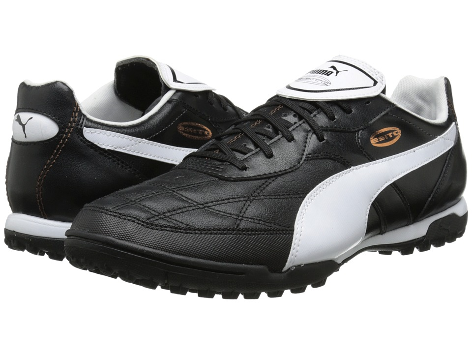 PUMA - Esito Classico Turf Trainer (Black/White/Bronze) Men's Shoes