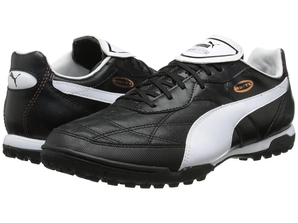 PUMA - Esito Classico Turf Trainer (Black/White/Bronze) Men's Shoes