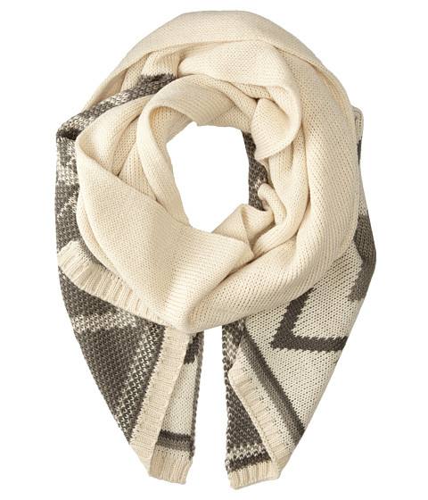Stetson - Aztec Pattern Intarsia Scarf (Brown) Scarves