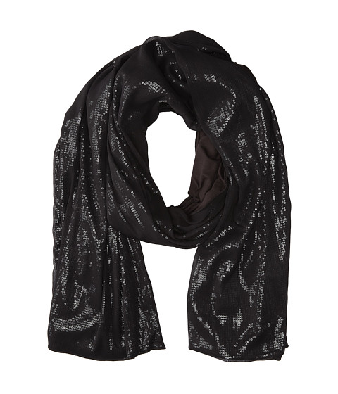 Stetson - 9422 3 Layer Sequin Knit Scarf (Black) Scarves