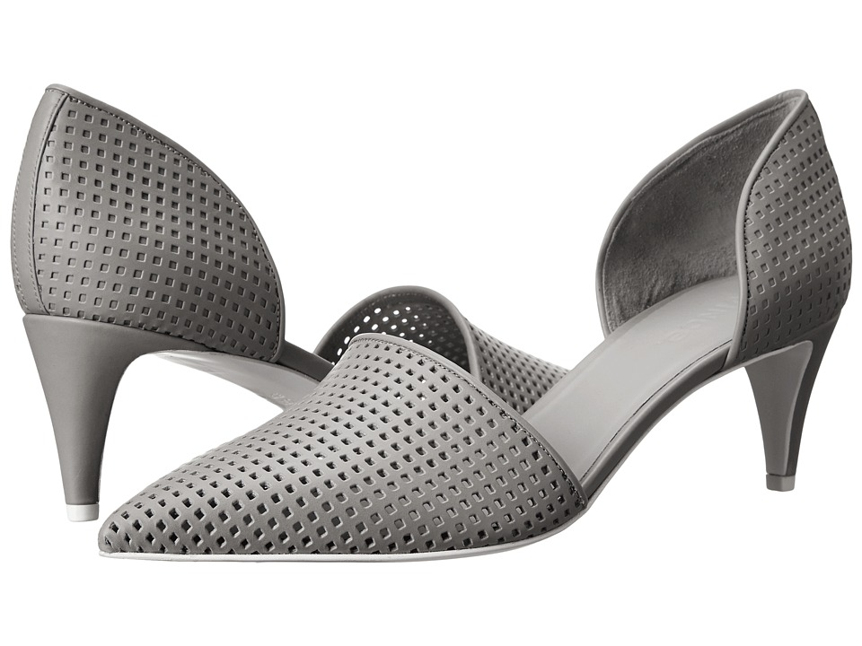 Vince - Aurelian 2 (Heather Steel Faeda Calf (Perforated)/Calf (Unperforated)) High Heels