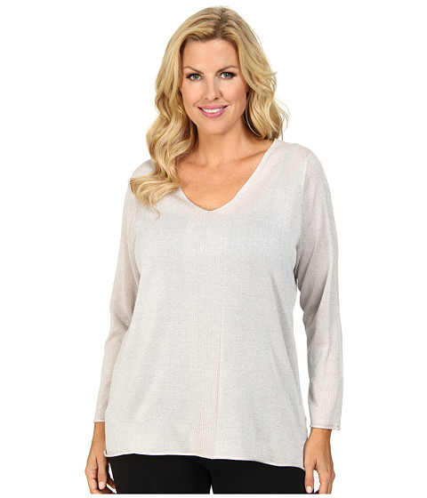 NYDJ Plus Size - Plus Size Metallic Sweater (Pixie) Women's Sweater