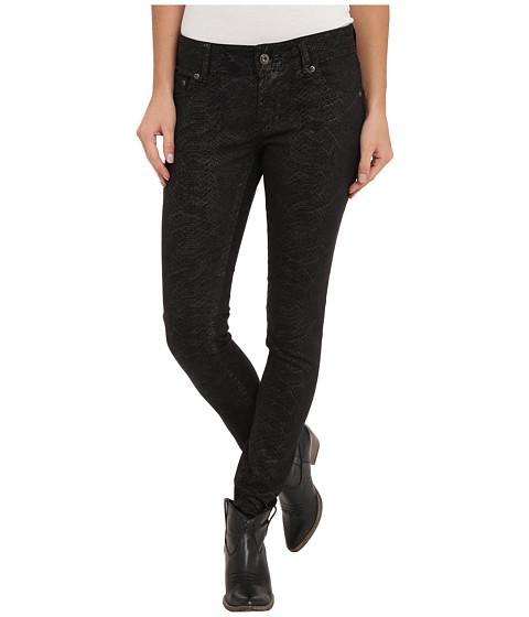 Stetson - Snake Print Denim Pant (Black) Women's Jeans