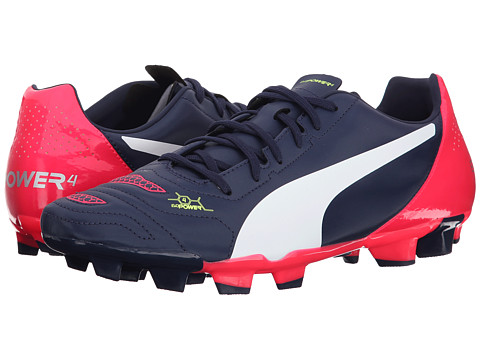 PUMA - Evopower 4.2 Firm Ground (Peacoat/White/Bright Plasma) Men's Shoes