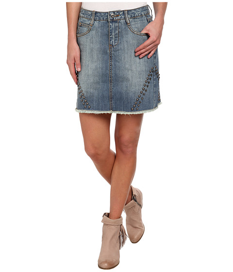 Stetson - Jean Skirt w/ Studs On Sides (Blue) Women