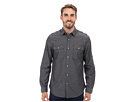 DKNY Jeans Long Sleeve Roll Tab Geo Dobby Shirt