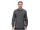 DKNY Jeans Long Sleeve Roll Tab Geo Dobby Shirt (Grey)