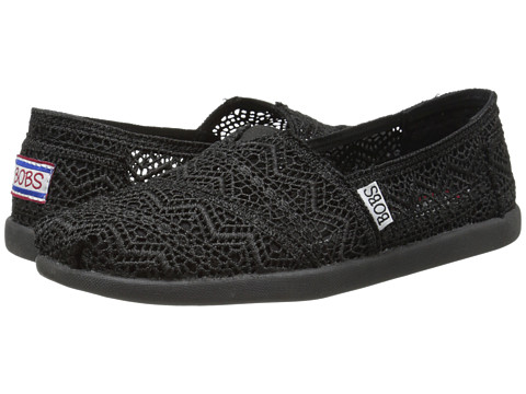 BOBS from SKECHERS - Bobs World - Dream Catcher (Black/Black) Women's Slip on Shoes